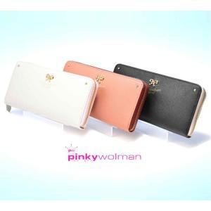 レディース長財布財布かわいいおしゃれプレゼントピンキーウォルマンpinkywolmanティファシリーズラウンドファスナー70302全3色|grans
