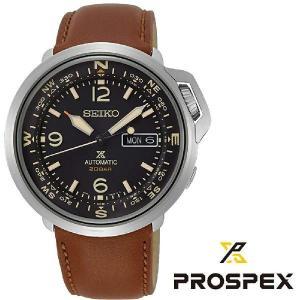 セイコー SEIKO PROSPEX メンズ腕時計 SRPD31K1 自動巻き ブラウンレザー 20バーランドシリーズ コンパス スポーツウォッチ|grans