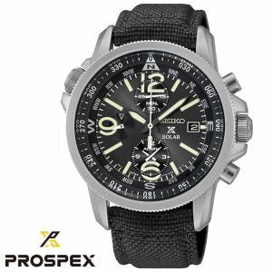 セイコー SEIKO PROSPEX メンズ腕時計 SSC293P2 メンズ クロノグラフ ソーラー腕時計 ブラック文字盤 プロスペックス 並行輸入品 クリスマス プレゼント|grans