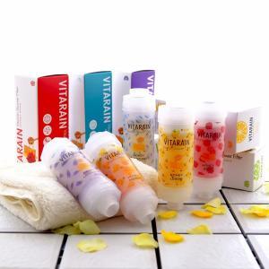 シャワーヘッドに取付簡単 VITARAIN ビタレイン 全5種 レモン ローズ ラベンダー フリージア 無香料 ハニーアロマビタミンシャワー|grans