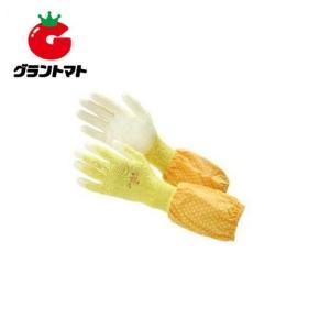 ウレタン背抜き袖付手袋 イエローL 5330 袖カバー付|grantomato