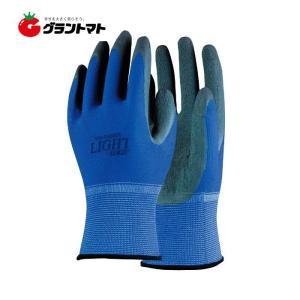 天然ゴム背抜き手袋 ブルー M 13ゲージ ライトシリーズ  おたふく手袋|grantomato