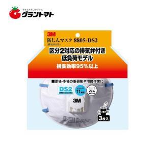 3M 使い捨て式防じんマスク 8805 DS2 3枚入り 排気弁付き|grantomato