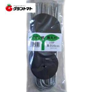 ヘアピン杭黒丸付20cm 10p シートキーパー シンセイ|grantomato
