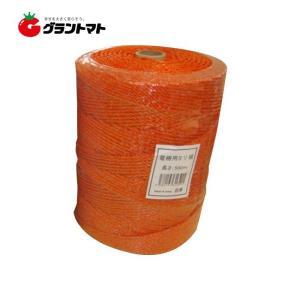 電柵ロープ 500m オレンジ 防獣用電気柵 シンセイ|grantomato