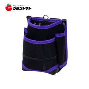 KH 武尊魂 二段 腰袋 黒/紫 TK02K-P 基陽|grantomato