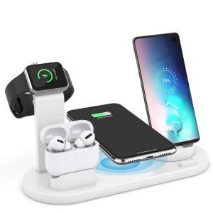 ワイヤレス充電スタンド AEOEO Airpods pro/iPhone/Apple Watch充電...