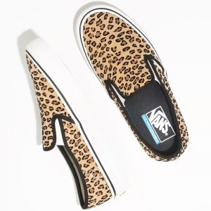 VANS/ヴァンズ CLASSIC SLIP-ON SF MINI LEOPARD SUEDE/MA...