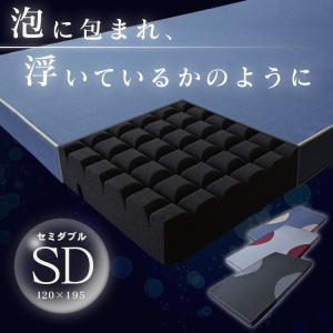 ◆商品名:高反発マットレス aqua【アクアSD】  ◆サイズ: セミダブル:幅120×奥行195×...