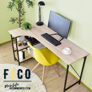 デスク ラック パソコンデスク オフィスデスク 省スペース PCデスク 収納 学習机 勉強机 学習デスク 机 つくえ フィコ ドリスの写真