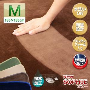 ラグ ラグマット カーペット 185 185 洗える 北欧 ウォッシャブル NEWソフィー 185 185|grazia-doris