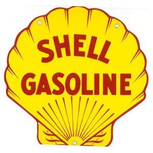 ロゴプレート:SHELL GASOLINE|grease-shop