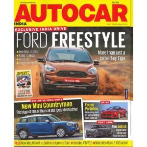 洋雑誌:Autocar India 2018年4月号(インド版・オートカーインディア)|grease-shop