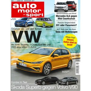 洋雑誌:Auto Motor und Sport 2018年1月4日号 (ドイツ版/アウトモータウントシュポルト)|grease-shop