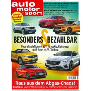 洋雑誌:Auto Motor und Sport 2018年10月25日号 (ドイツ版/アウトモータウントシュポルト) grease-shop