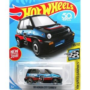 HotWheels Basic:1985 ホンダ・シティ ターボ II (Honda City Turbo II)(ブラック)|grease-shop