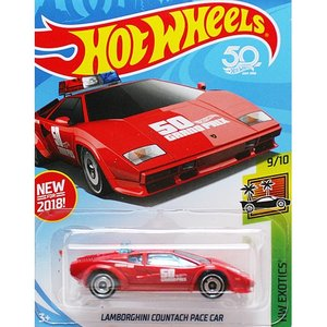 HotWheels Basic:ランボルギーニ・カウンタック・ペースカー (Lamborghini Countach Pace Car)(レッド)|grease-shop