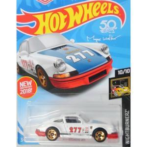 HotWheels Basic:1971 ポルシェ・911(Porsche 911)(ホワイト/ブルー)|grease-shop