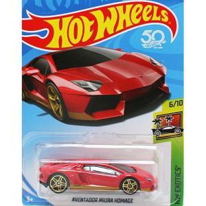 HotWheels Basic:ランボルギーニ・アヴェンタドール・ミウラ オマージュ (Lamborghini Aventador Miura Homage)(レッド)|grease-shop