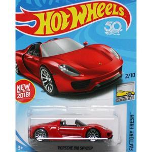 HotWheels Basic:ポルシェ・918 スパイダー (Porsche 918 Spyder)(レッド)|grease-shop