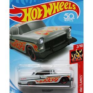 HotWheels Basic:1955 シェビー (Chevy) (グレー)|grease-shop