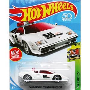 HotWheels Basic:ランボルギーニ・カウンタック・ペースカー(Lamborghini Countach Pace Car)(ホワイト)|grease-shop