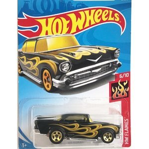 Hot Wheels Basic:1957・シェビー('57 Chevy)(ブラック/ゴールド)|grease-shop