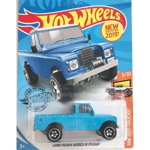 Hot Wheels Basic:ランドローバー・シリーズ III・ピックアップ(Land Rover Series III Pickup)(ブルー)|grease-shop