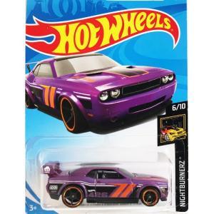 Hot Wheels Basic:ダッジ・チャレンジャー・ドリフトカー (Dodge Challenger Drift Car)(パープル)|grease-shop