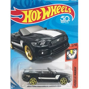Hot Wheels Basic:2015・フォード・マスタング・GT・コンバーチブル(2015 Ford Mustang GT Convertible)(ブラック)|grease-shop