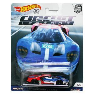 Hot Wheels Circuit Legends:2016 Ford GT Race (フォード・GTレース)(ブルー/レッド)|grease-shop