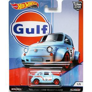 Hot Wheels Gulf Racing:60s Fiat 500D Modificado (フィアット・500D・モディフィケート)(ブルー/オレンジ)|grease-shop