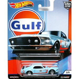 Hot Wheels Gulf Racing:1969 Ford Mustang BOSS302 (フォード・マスタング ボス302)(ブルー/オレンジ)|grease-shop