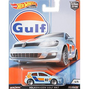 Hot Wheels Gulf Racing:Volkswagen Golf MK7 (フォルクスワーゲン・ゴルフ Mk7)(ブルー/オレンジ)|grease-shop