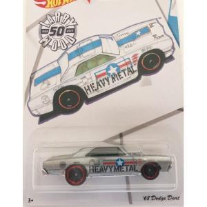 Hot Wheels Larry Wood 50th:1968 ダッジ・ダート (Dodge Dart)(シルバー)|grease-shop