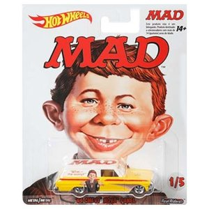 Hot Wheels Mad Magazine:1964 シェヴィー・ノバ・パネル(Chevy Nova Panel/Alfred E. Neuman)(イエロー/ホワイト)|grease-shop
