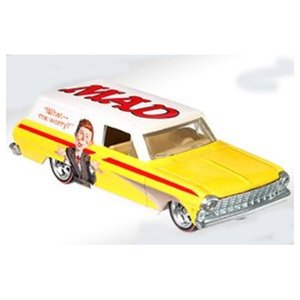 Hot Wheels Mad Magazine:1964 シェヴィー・ノバ・パネル(Chevy Nova Panel/Alfred E. Neuman)(イエロー/ホワイト)|grease-shop|02