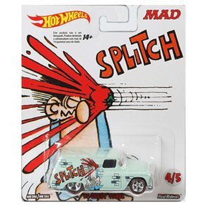 Hot Wheels Mad Magazine:1955 シェビー・パネル(Chevy Panel/Sound Effect Sticker)(ライトグリーン)|grease-shop