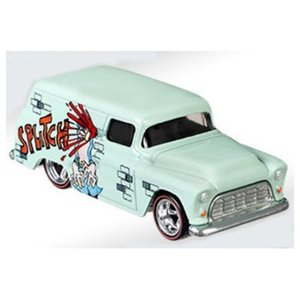 Hot Wheels Mad Magazine:1955 シェビー・パネル(Chevy Panel/Sound Effect Sticker)(ライトグリーン)|grease-shop|02