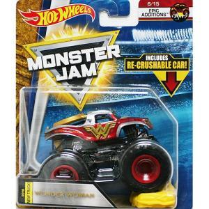 Hot Wheels Monster Jam 1/64:Wonder Woman (ワンダー・ウーマン)(レッド)|grease-shop
