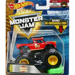 Hot Wheels Monster Jam 1/64:Radical Rescue (ラジカル・レスキュー)(レッド)|grease-shop