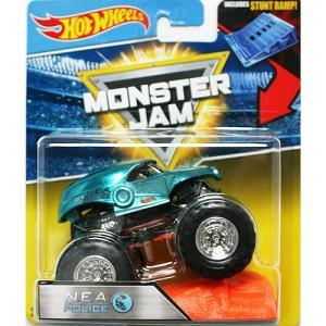 Hot Wheels Monster Jam 1/64:N.E.A. Police (N.E.A.ポリス)(ブルー)|grease-shop