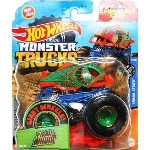 Hot Wheels Monster Truck 1/64:Piran-AHHHH (グリーン/オレ...
