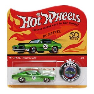 Hot Wheels 50th Original Collection:1967 HEMI Barracuda (HEMI・バラクーダ)(グリーン)|grease-shop