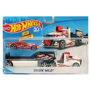 Hot Wheels Super Rig:Drivin' Wild (ドライビン・ワイルド)(ホワイト/ブラック)|grease-shop