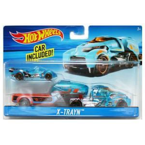 Hot Wheels Super Rig:X-Trayn (X-トレイン)(ブルー)|grease-shop