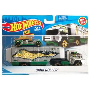 Hot Wheels Super Rig:Bank Roller (バンク・ローラー)(シルバー/グリーン)|grease-shop