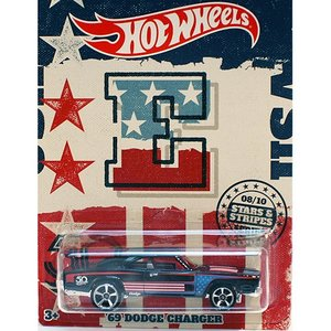 Hot Wheels Stars & Stripes:1969 ダッジ・チャージャー (Dodge Charger)(ブラック)|grease-shop