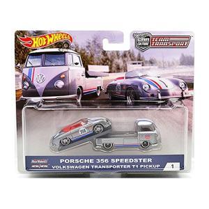 Hot Wheels Team Transport:Porsche 356 Speedster & VW Transporter T1 Pickup (ポルシェ・356スピードスター&VW・T1ピックアップ)(シルバー)|grease-shop