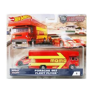Hot Wheels Team Transport:Porsche 962 & Fleet Flyer (ポルシェ・962)(レッド) grease-shop